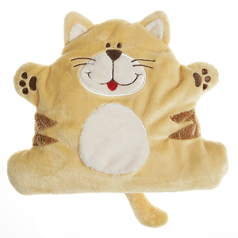 Coussinet chauffant aux graines de lin, peluche Cherry Belly Baby Chat
